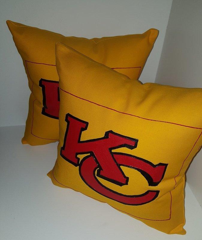 Kansas City Chiefs Pillow (Yellow)
