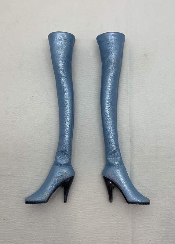TBLeague Lady Bat Blue Thigh High Boots (for ball end feet style)