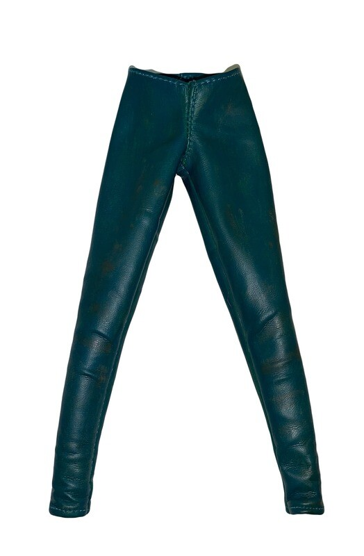 Loose Item:  Steampunk Red Sonja Blue/Green Leather-Like Pants (Dirty)