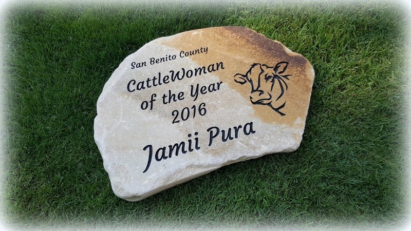 Personalized Engraved Stepping Stone - Blonde