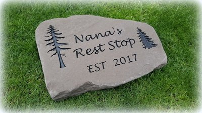 LILAC STEPPING STONE CUSTOM ENGRAVED
