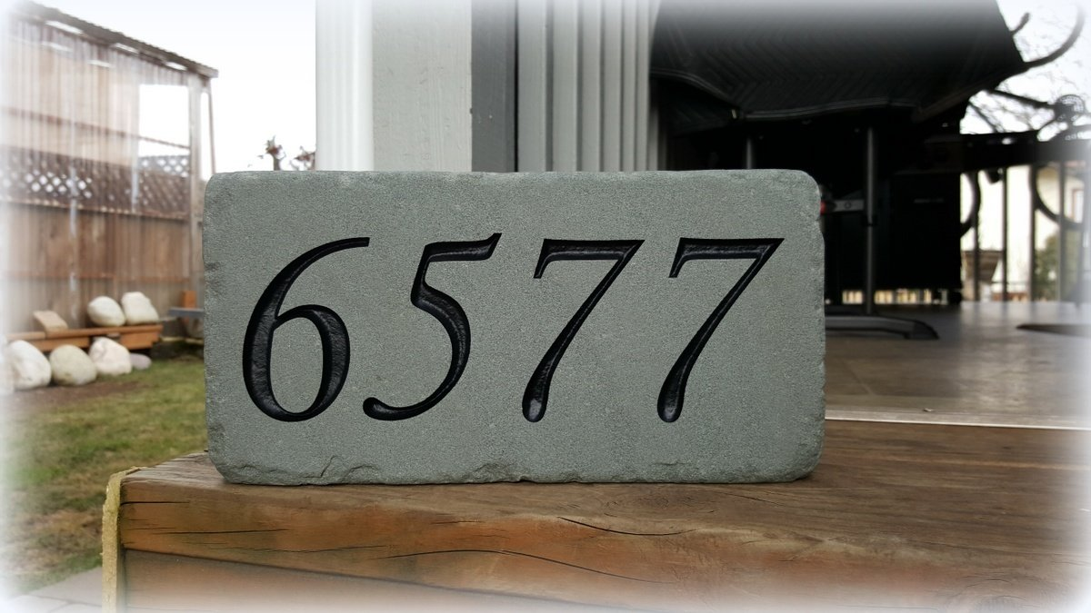SMALL BLUESTONE Custom Engraved with Free Shipping