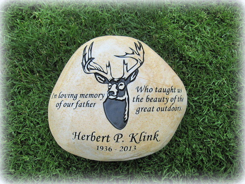 Personalized Engraved River Rock - Large