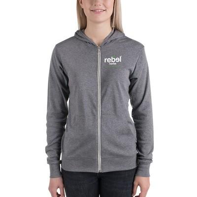 Unisex Rebel zip hoodie