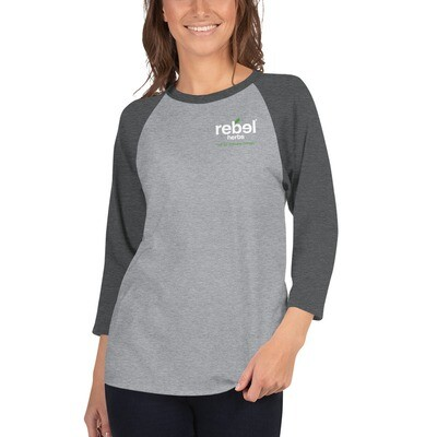 3/4 sleeve Rebel raglan shirt