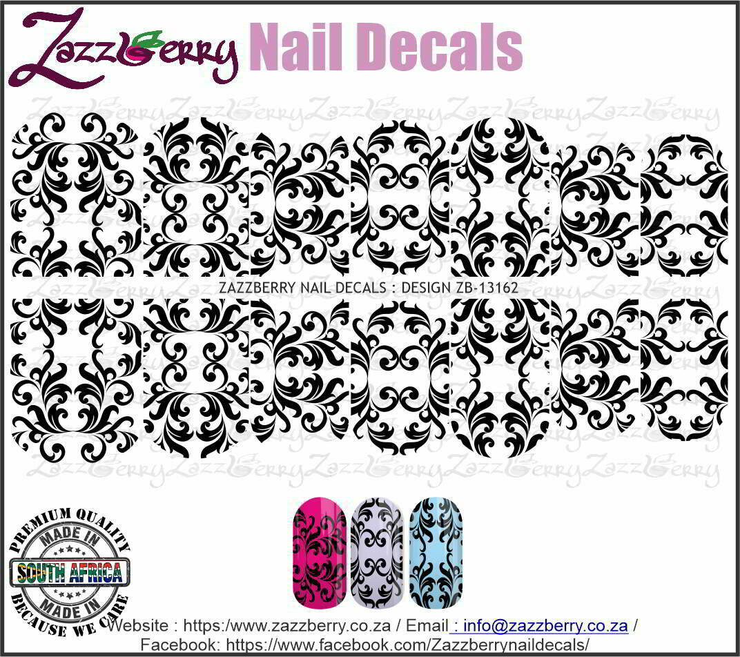 Decorous Swirls (Black/White/Foil)