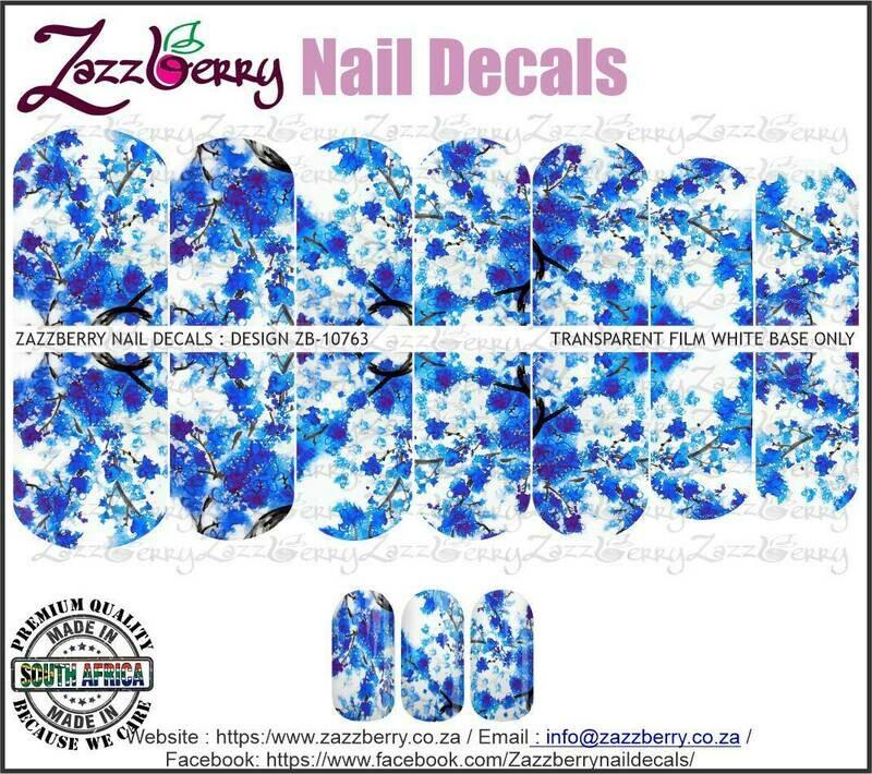 Aquarelle Blue Cherry Blossoms