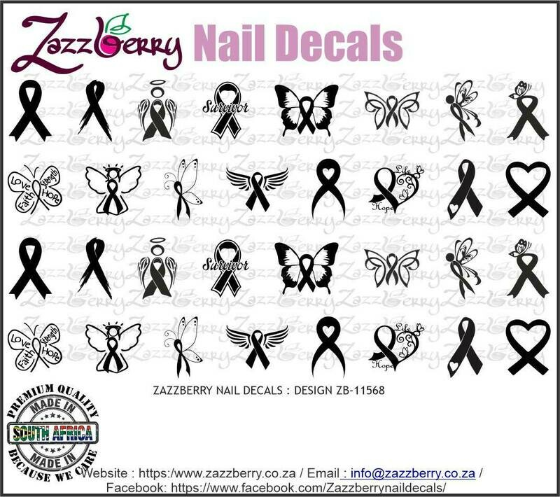 Cancer Ribbons Black
