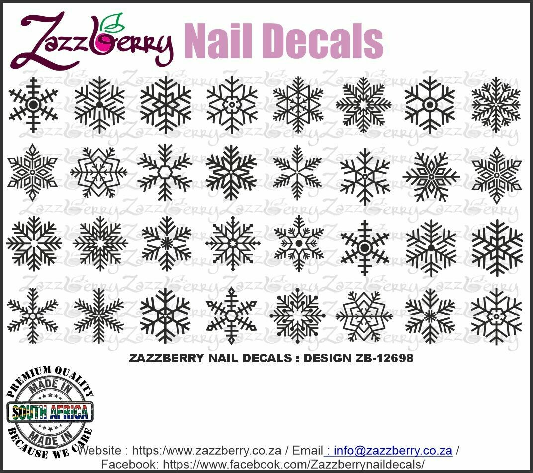 Snowflakes (Black , White or Foil)