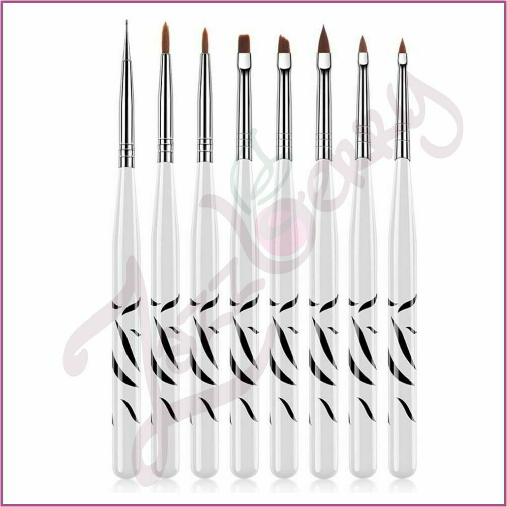 Manicure Brush - Zebra : 8pcs