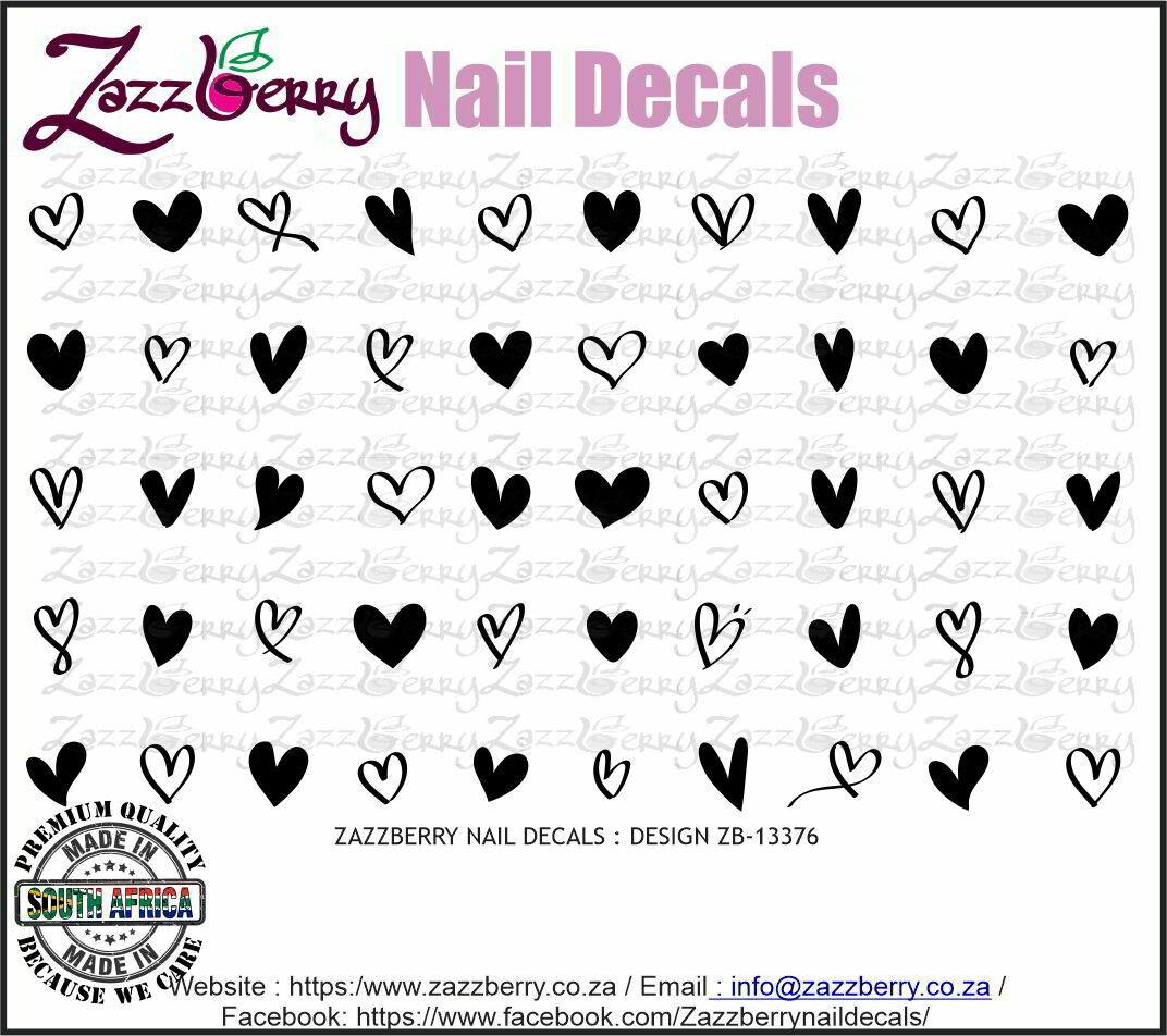 Hearts  (Black / White or Foil)