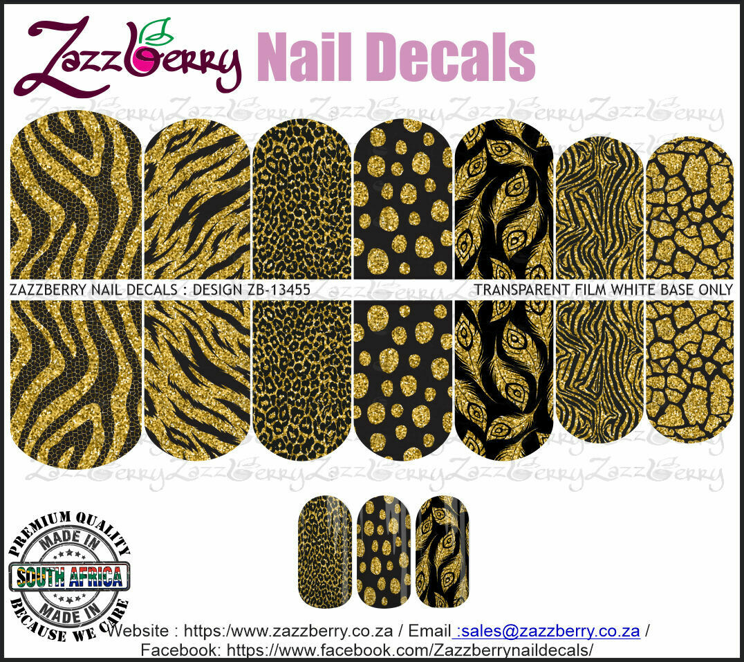 Black and Faux Gold Animal Prints
