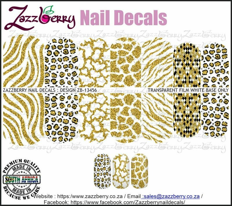 White and Faux Gold Animal Prints