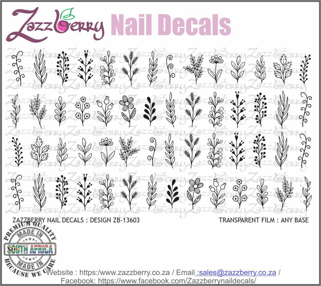 Hand Drawn Flower Doodles (Black/White/Foil)