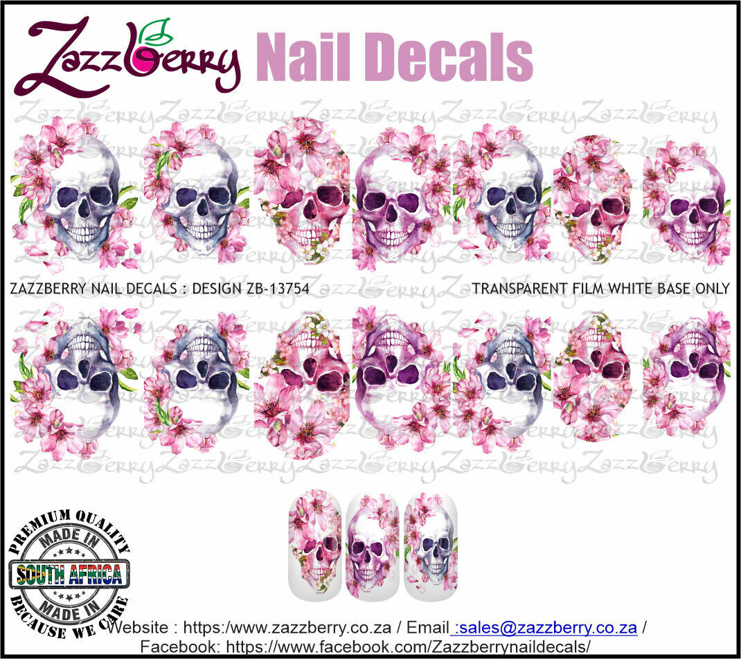 Cherry Blossom Skulls