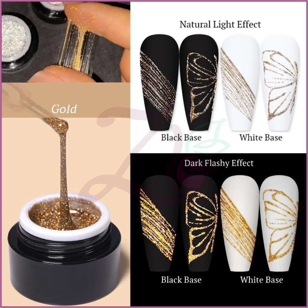 Reflective Glitter Spider Gel (5g) - Gold