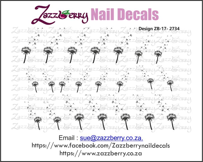 Dandelion Nail Decals