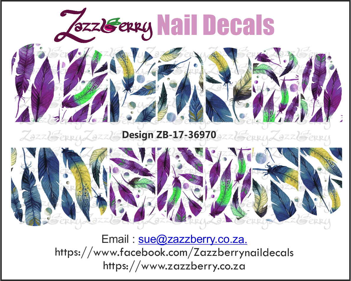 Feather Wrap Nail Decals