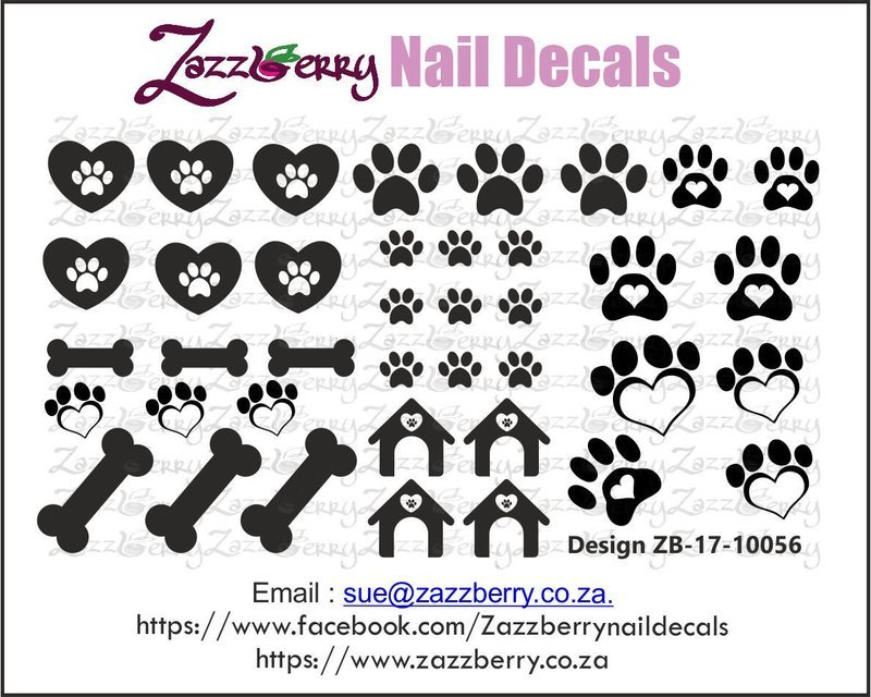 Doggie Love Nail Decals