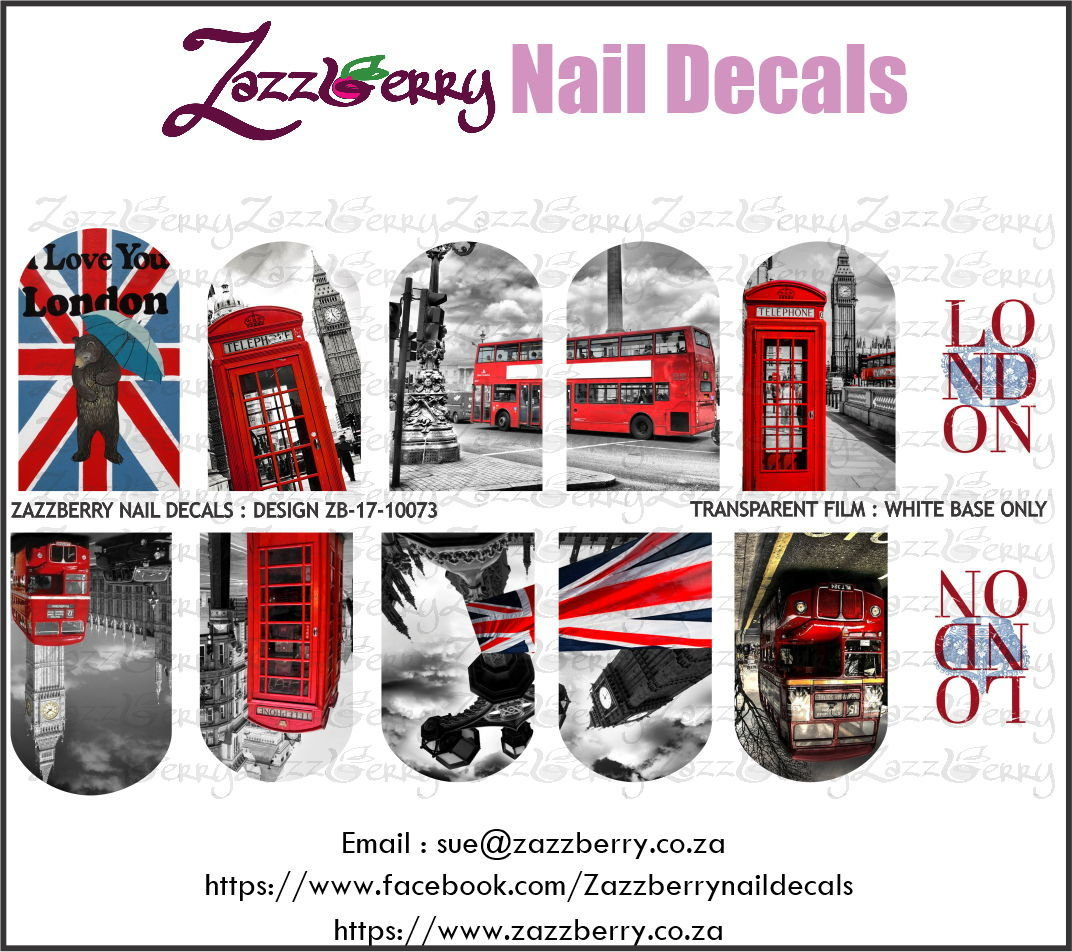 London Nail Decals