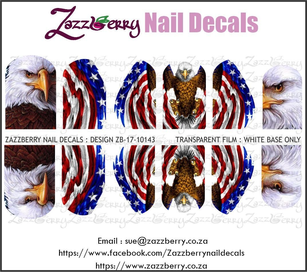 American Eagle with Flag Elements