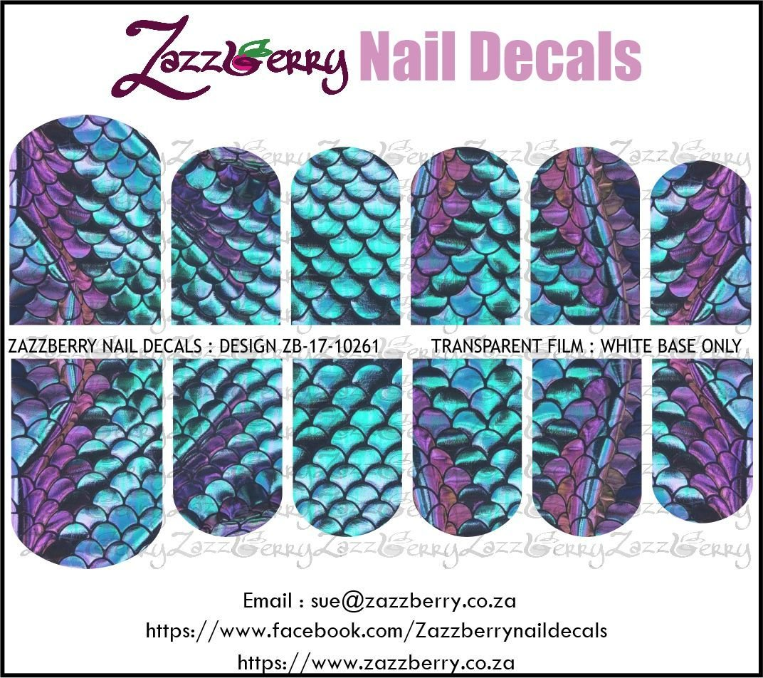 Mermaid Scales Turquoise and Purple