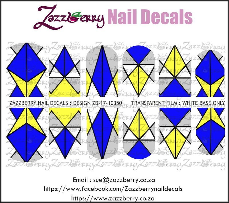 Geometric Blue and Yellow