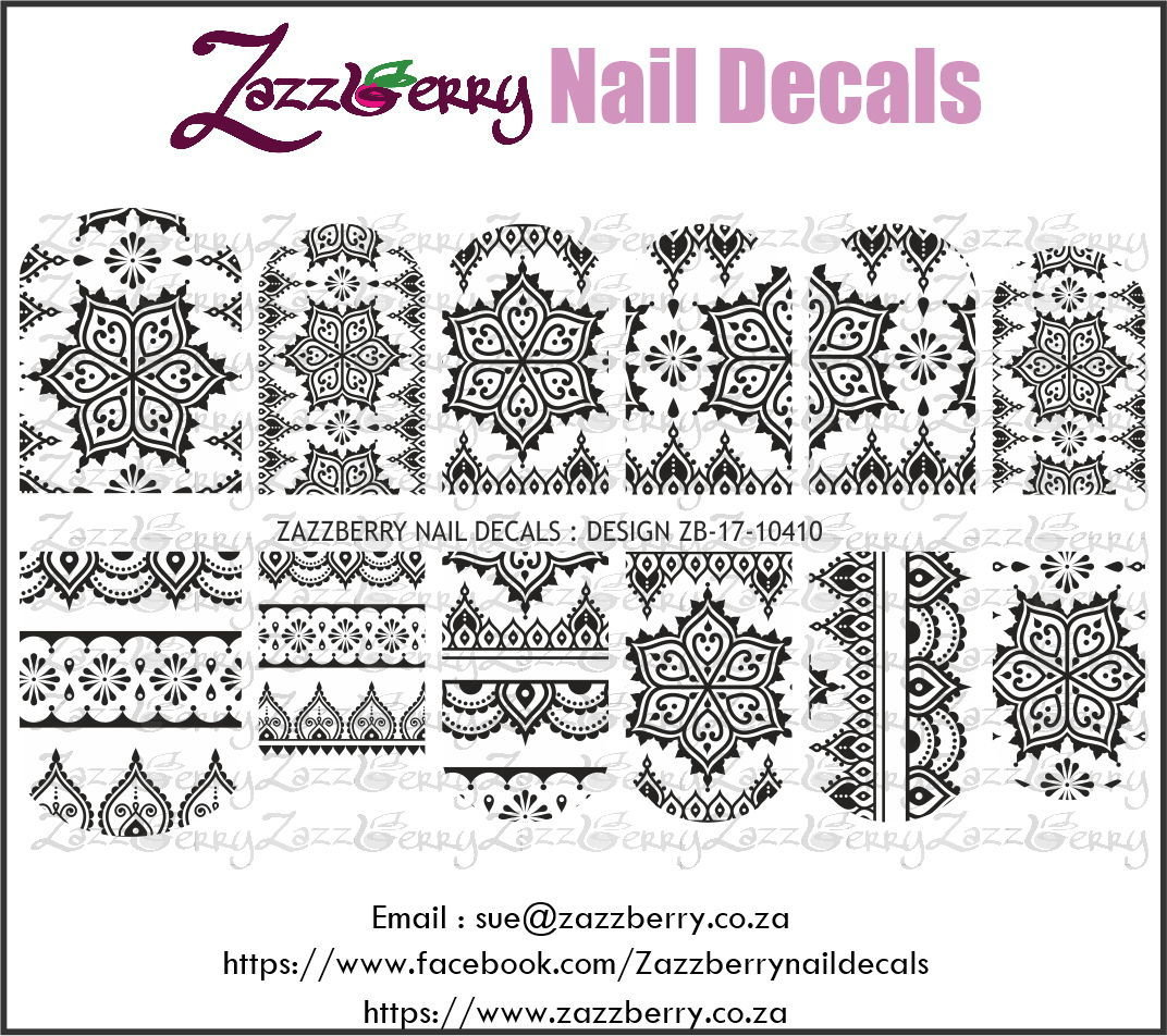 Ornamental Pattern Black