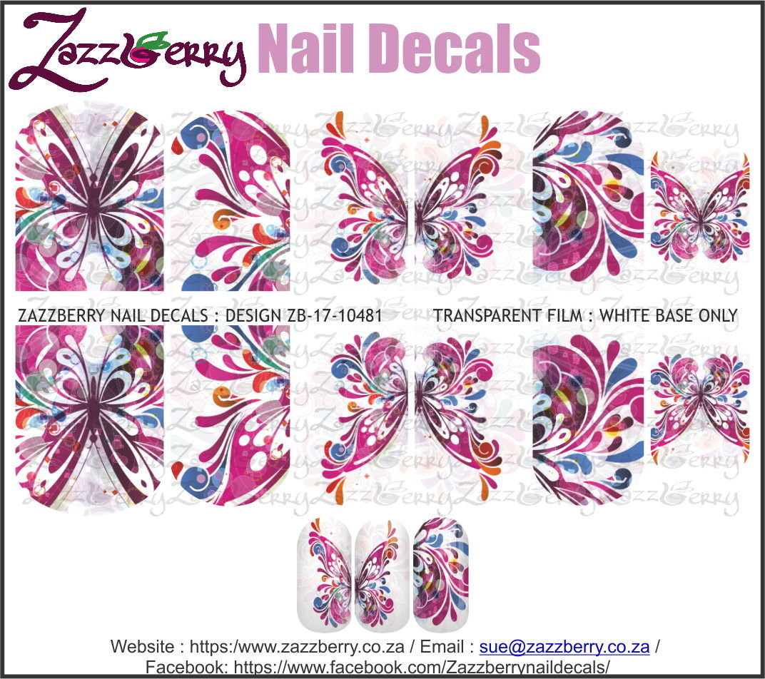 Hand Painted Butterflies Pink