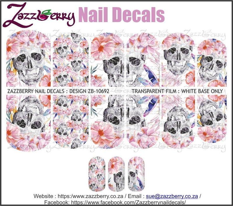 Skulls &  Pink Flowers