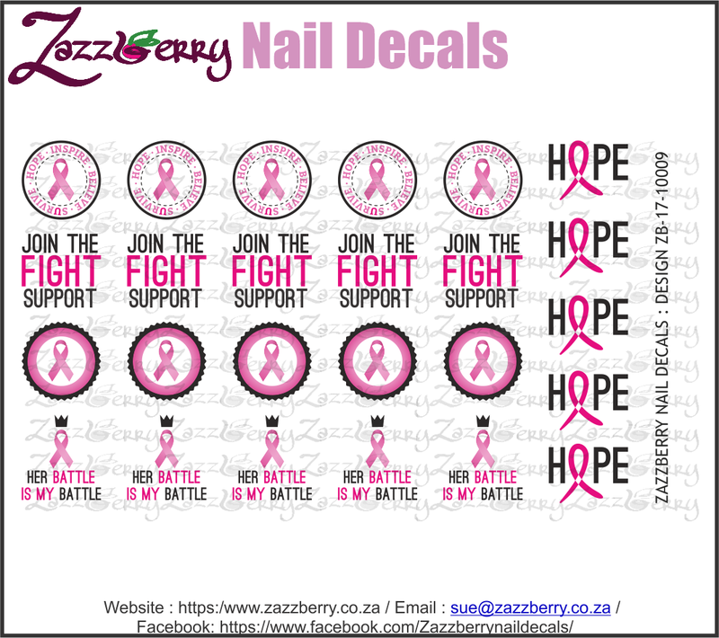 Cancer Awareness Nail Decals
