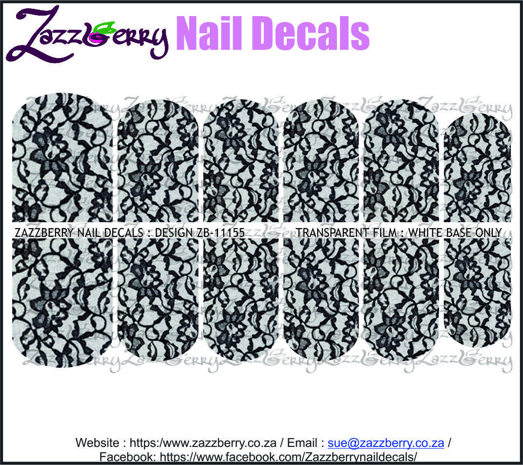 Black Floral Lace II