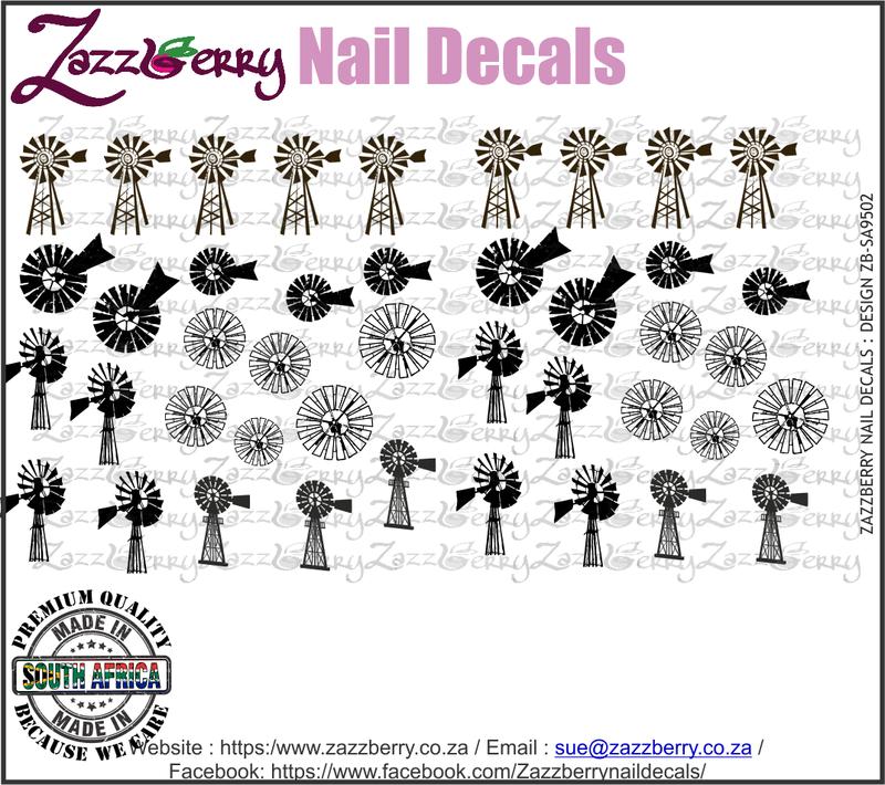 Windpomp Elements Nail Decals