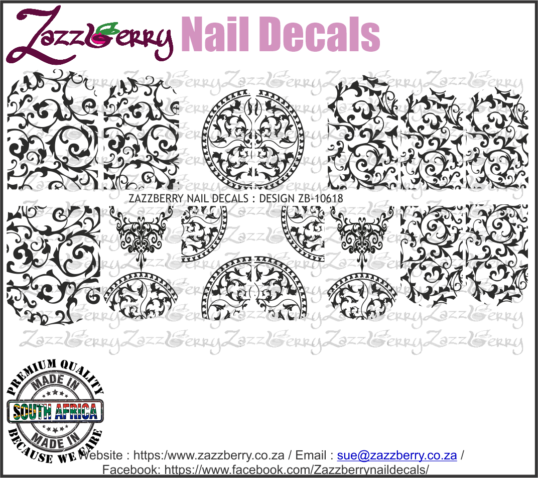Ornamental Lace II (Black or White)