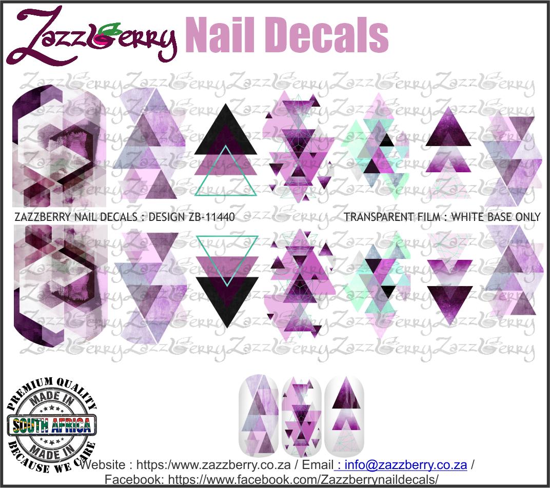 Geometric Purple Marble