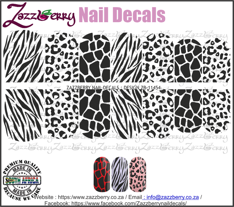 Animal Prints  (Black/White/Foil)