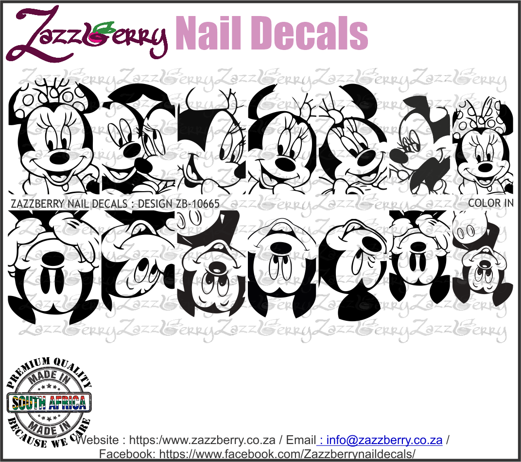 Color In : Mickey and Minnie Mouse