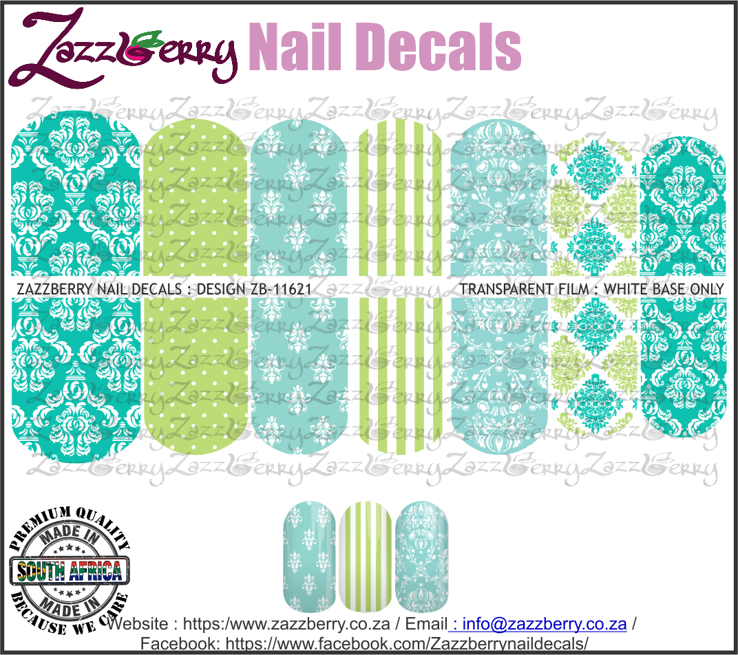 Teal Damask Mix