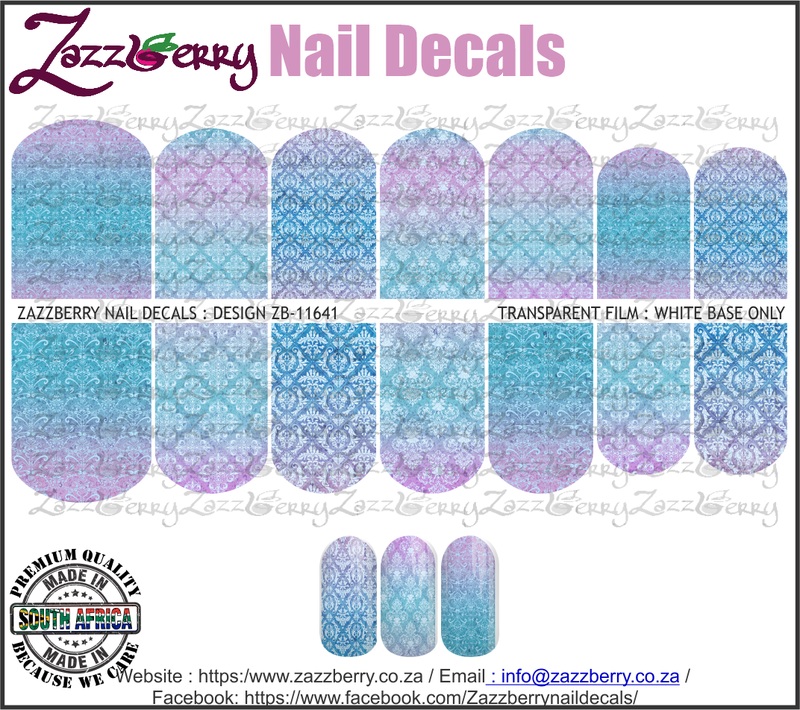 Blue Purple Damask Ombre II