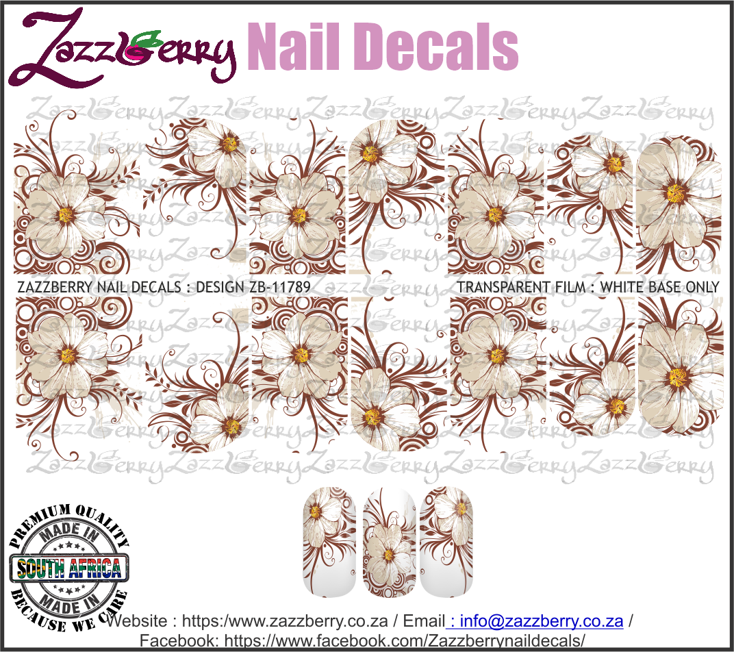 Hand Drawn Brown Flowers