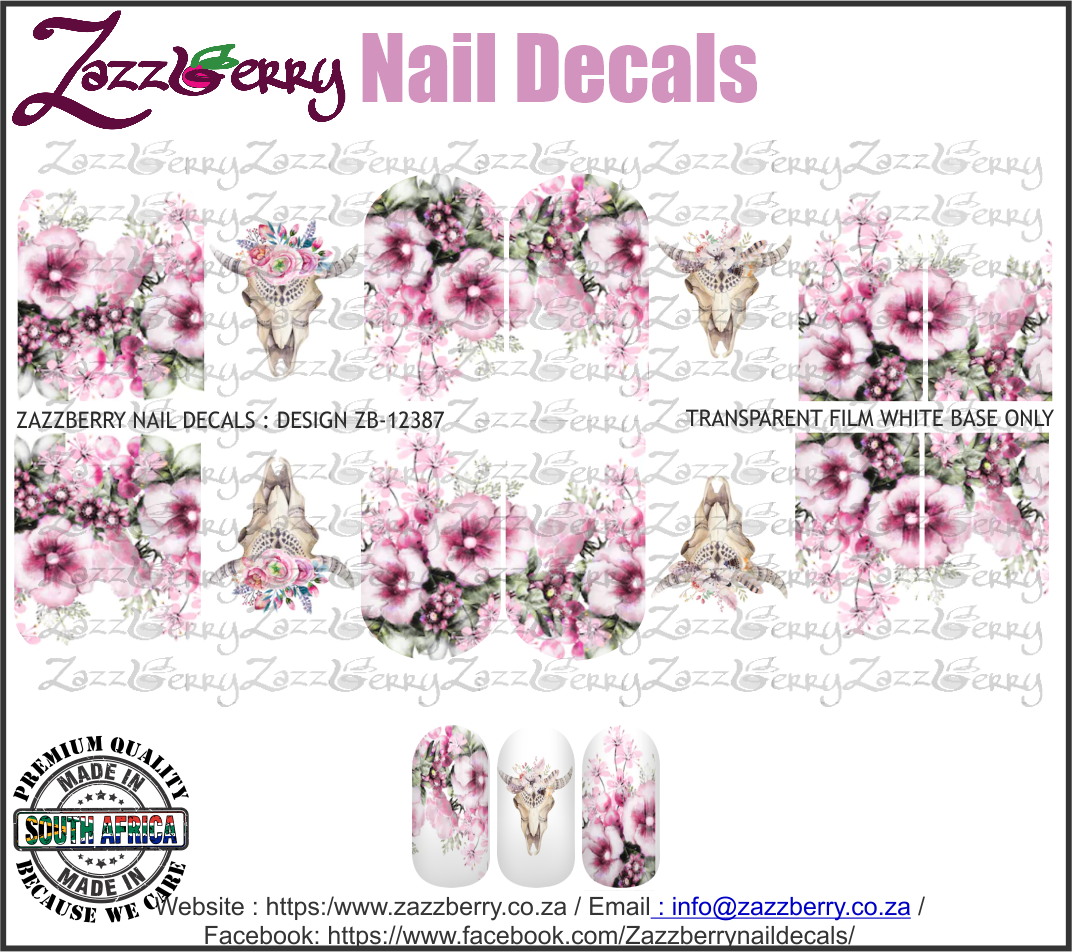 Animal Skulls and Pink Flowers