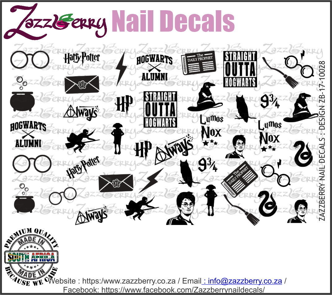 Harry Potter Elements Nail Decals