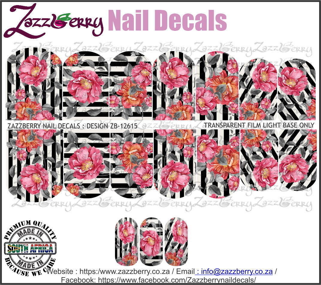 Flowers and Black Stripes