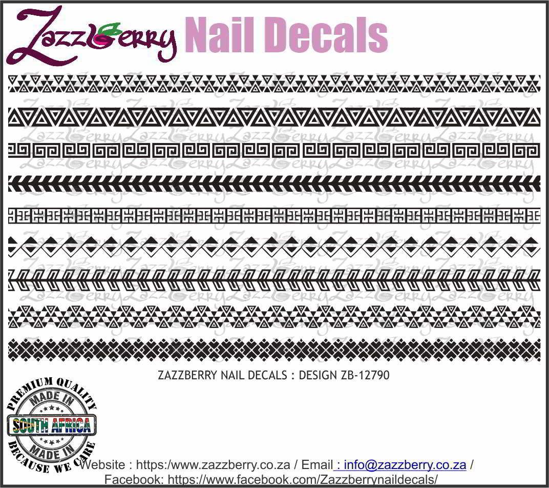 Tribal Strips  (Black/White/Foil)