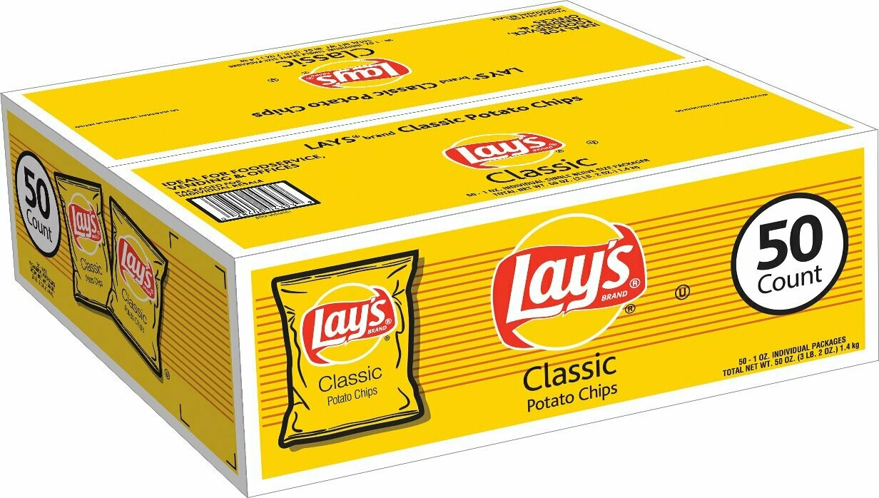 Lays Classic Potato Chips 50 Count