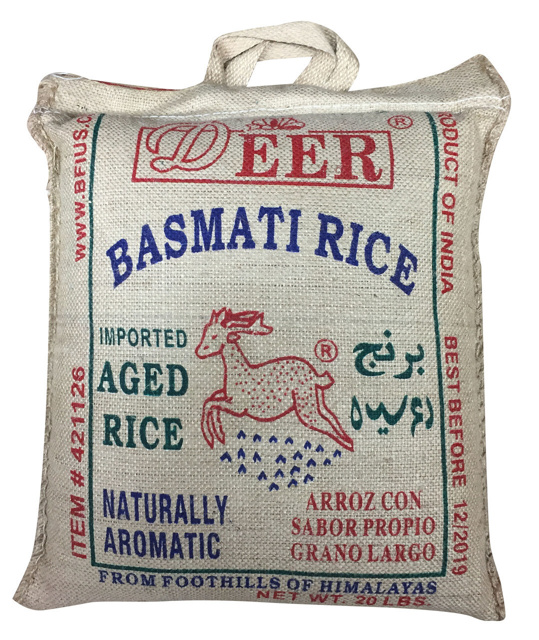 * Deer Basmati Rice 20 Pounds