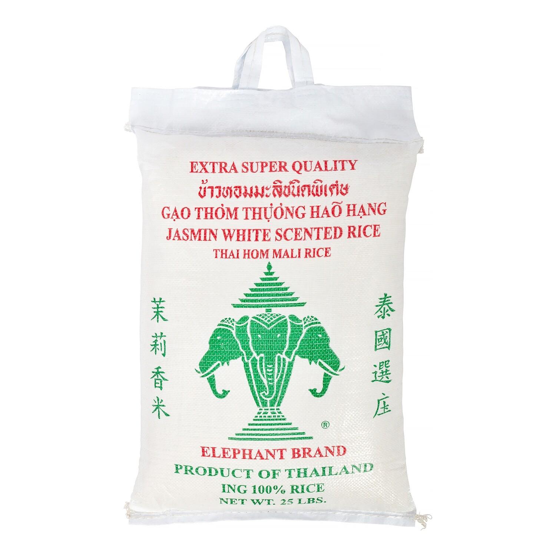 * Twin Elephant Jasmine Rice 25 Pounds