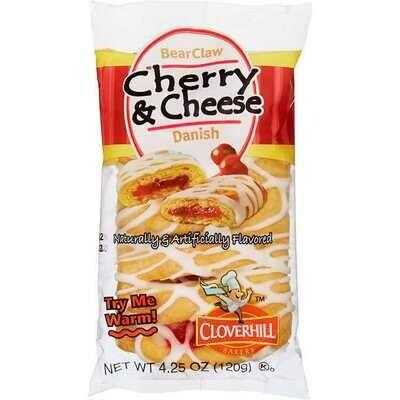 * Cloverhill Danish Cherry Cheese Bear Claw 4.25 Ounces