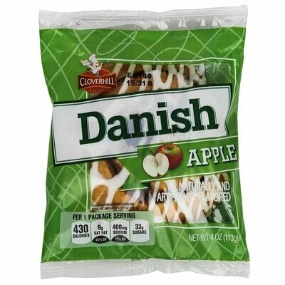 * Cloverhill Apple Danish Round  4 Ounces