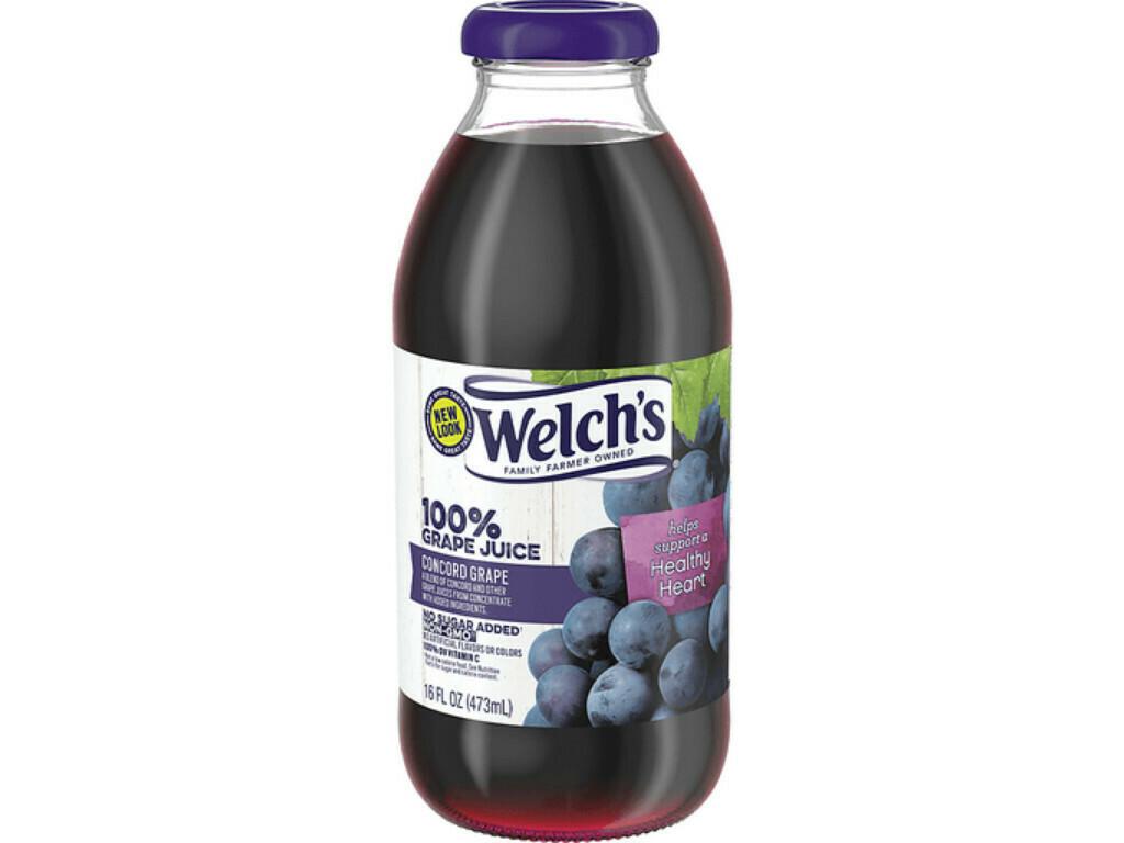 * Welch'S 100% Grape 12-16 Ounces Glass